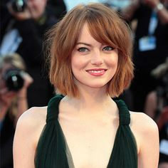 We love Emma Stone's tousled do that falls just short of her chin, our ultimate hair crush. For more hair like this click the picture or visit RedOnline.co.uk