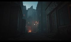 "ArtStation - Assassin's Creed Syndicate - Whitechapel East (Backalleys and Backyards at night), Bertrand ""Kali"" Bergougnoux"