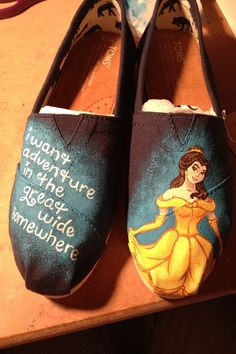 Custom painted TOMs by Simply4TheHeArt on Etsy, $90.00