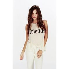 WILDFOX TOGETHER TANK - VINTAGE WHITE — Hollywood & Vine