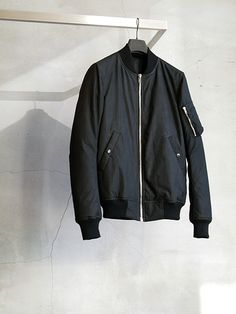 Rick Owens MA-1 jacket. | More outfits like this on the Stylekick app! Download at http://app.stylekick.com