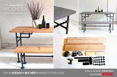 HomeMade Modern DIY EP3 Wood and Iron Table Postcard