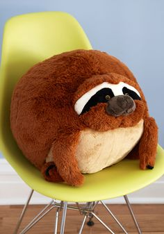Plush One Pillow in Sloth. Get cozy with this soft sloth pillow by Squishable - available for purchase in May - for a darling day of reading and relaxing! #multi #modcloth