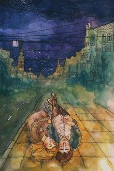 15теплых иллюстраций сноткой питерской романтики