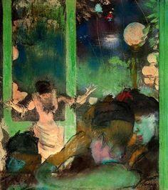 Edgar Degas「At the Café des Ambassadeurs」(1885)