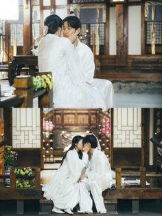Hera and Baekhyun EXO Moon lovers Scarlet heart ryeo Z Hera, Baekhyun Moon Lovers, Moon Lovers Drama, Scarlet Heart Ryeo Wallpaper, Best Kdrama, China Architecture, Lovers Kiss, Min Yoonji, Love K