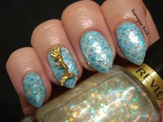 Before there were unicorns, but since Summer is upon us everything is mermaid related right now. And the flakie trend is sweeping the nail. Mermaid Skin, Mermaid Nails, Nail Art, Nail Arts, Art Nails