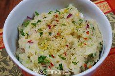 Purê de batatas indiano - Veganana