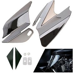 #Harley Chrome Reflective Saddle Shield Heat Deflector For Harley Electra Road Glide 08 please retweet