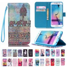 Credit Card Holder Protective Case Cuero For Samsung Galaxy Note 5 S6 edge Plus S5 S4 S3 mini  Wallet Stand Flip Leather Cover