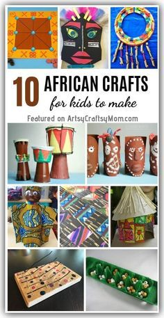 10 Traditional African Crafts for Kids to Make These traditional African crafts for kids teach us about the rich and colorful heritage of the African continent! Play games, create art and have fun! African Art For Kids, African Art Projects, African Children, African Crafts Kids, Africa Activities For Kids, Art Activities, Money Activities, Crafts For Kids To Make, Projects For Kids