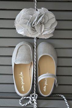 Colección zapatos arras de lino gris. www.donpisoton.com