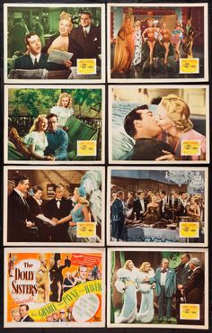 The Dolly Sisters Century Fox, Lobby Card Set of 8 X Musical. Starring Betty - Available at Sunday Internet Movie Poster. John Payne Actor, I Love Lucy, My Love, Dolly Sisters, Internet Movies, Gone With The Wind, Disney Animation, June Haver, Prints