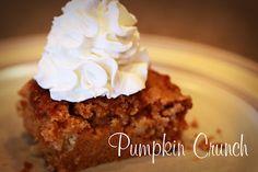 Fall dessert Pumpkin Crunch