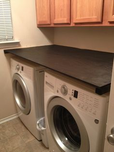 Captivating Add A Counter Above Front Loading Washer/dryer For Folding And So Items Donu0027