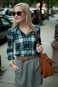 NYC Fall Days: Plaid, Wool and Suede - Kelly in the City