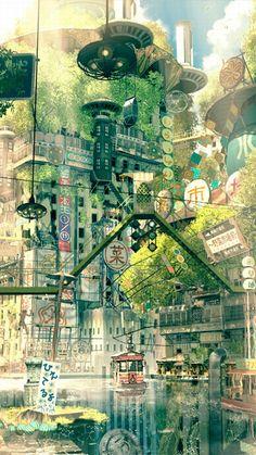 【插画】没有人的城市丨幻想东京