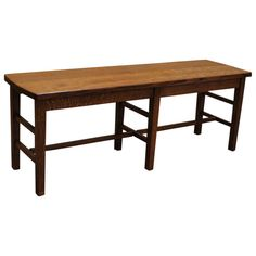 """This handmade Amish 48"""" Amish Mission Bench is skillfully constructed with sturdy solid Quarter Sawn Oak(shown) by highly experienced Amish Craftsmen in the Heartland of America. This bench remains true to the Arts & Crafts movement and demonstrates a classic yet timeless traditional design. This exceptional durable Amish Bench features a sealed conversion varnish that protects this elegant piece from water, oil, alcohol and even nail polish. You can take pride in owning furniture built to…"""