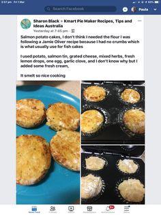 Mini Pie Recipes, Waffle Maker Recipes, Gf Recipes, Cooking Recipes, Salmon Potato Cakes, Salmon Cakes, Thai Noodles, Spicy Thai, Potato Pancakes