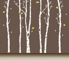Tree Decal Birch Wall Mural   T2R by ArtHomeDecals on Etsy, $95.00