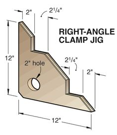 Right angle clamp jig.  Right-angle brace gives you a corner on clamping tasks.