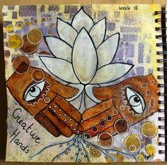 Marja's Creativity (paintings, art journals etc) Journal52 / week 18