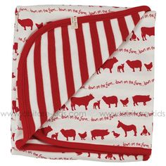 FARMYARD Organics For Kids Couverture 70x72 cm rouge