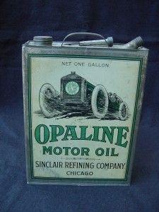 Vintage Cars Race Car Vintage Sinclair Opaline Motor Oil Can Tin 1 Gallon . Vintage Oil Cans, Vintage Tins, Vintage Auto, Old Gas Pumps, Vintage Gas Pumps, Pompe A Essence, Gas Service, Old Gas Stations, O Gas