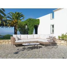 Best Loungegarnitur Rimini in Beige Beige Naturfarben MODERN Kunststoff Stein M MAX