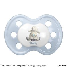 "Little White Lamb Baby Pacifer Pacifier - Click through to Zazzle and use the ""customize"" and/or ""personalize"" options to tweek my design and make it perfect for you, if needed. Zazzle always has sales going on too! Boy Pacifier, Binky, Baby Animals, Cute Animals, Pacifiers, Animals Images, Baby Shark, Little White, Orthodontics"