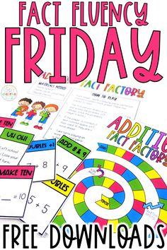 Fact Fluency Friday Activities - Simply Creative Teaching