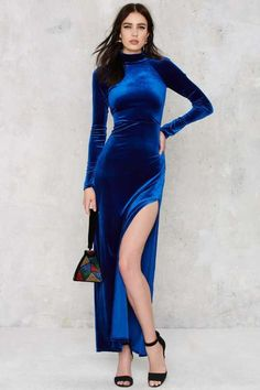Nasty Gal Zealot for Velvet Dress - Party Shop