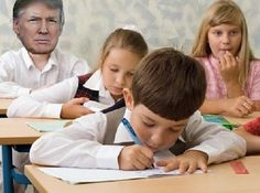 13. A child who can't read the chalkboard