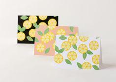Citrus Slice Note Cards - FREE PRINTABLES // Delia Creates