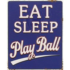 """Eat. Sleep. Play ball."" Get in spring training mode with this fun baseball magnet!"
