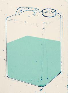 Amze Emmons, Portage, intaglio and silkscreen