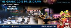 THE GRAND 2015 PRIZE DRAW: Your chance to win some exciting Hotelsetc memberships - Gift Hampers & more - visit: http://m.ahujabusinessservices.com  #hotelsetc #thetoptravelclub #ahujabusinessservices