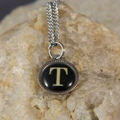 Initial Necklace by WireNWhimsy on Etsy