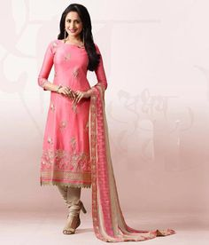 Naksh - Stunning Onion Pink And Beige Chanderi Silk Suit Lehenga Suit, Silk Suit, Indian Suits, Onion, Beige, Formal Dresses, Pink, Fashion, Dresses For Formal