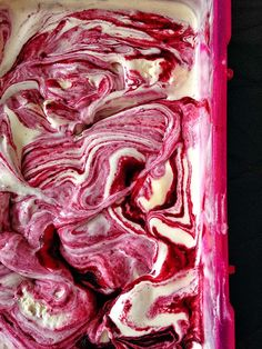 Buttermilk and blackberry ice cream | Supergolden Bakes