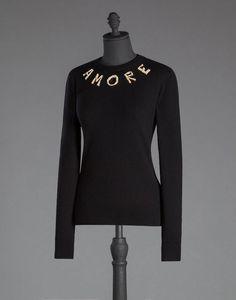 ニット カシミア ブローチ「アモーレ」 - ロングスリーブシャツ - Dolce&Gabbana - 2015冬コレクション