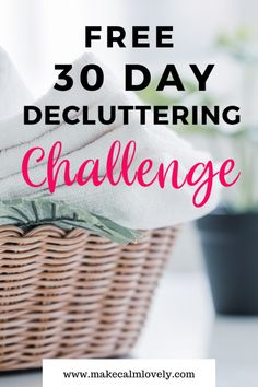 Feb 2020 - This Free Decluttering challenge can be done in just minutes per day. It is just a small time commitment each day for absolutely… Squat Challenge, 30 Day Challenge, Thigh Challenge, Declutter Your Home, Organize Your Life, Minimalism Challenge, I Feel Overwhelmed, Happiness Challenge, Stress