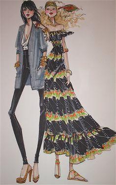 Fashion illustration by Alfredo Cabrera