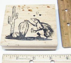 PORCUPINE LOVE GLASSES ARENT WORKING HUMOR BY GRAPHIC STAMPS WM Rubber Stamp   #GRAPHICRUBBERSTAMPS #regular