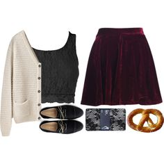 I love love love love this outfit, and wouldn't mind taking a bite out of the pretzel either!
