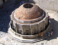 The Big Onofrio's Fountain in Dubrovnik