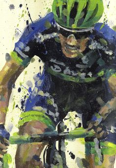PAINTING LE TOUR: TDF 2016 stage 10 Michael Matthews