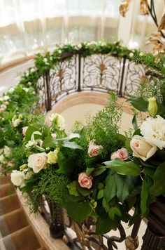 Fl Staircase Decor Wedding Stairs French Formal Day Dream