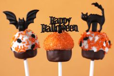 Halloween Cupcake Cake Pops - Love From The Oven