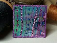 Original Textile Art Brooch  OOAK by MadbirdTextiles on Etsy, £10.00